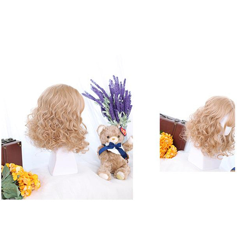 """VINTAGE CUTE"" LITTLE CURLY WIG Y021617"