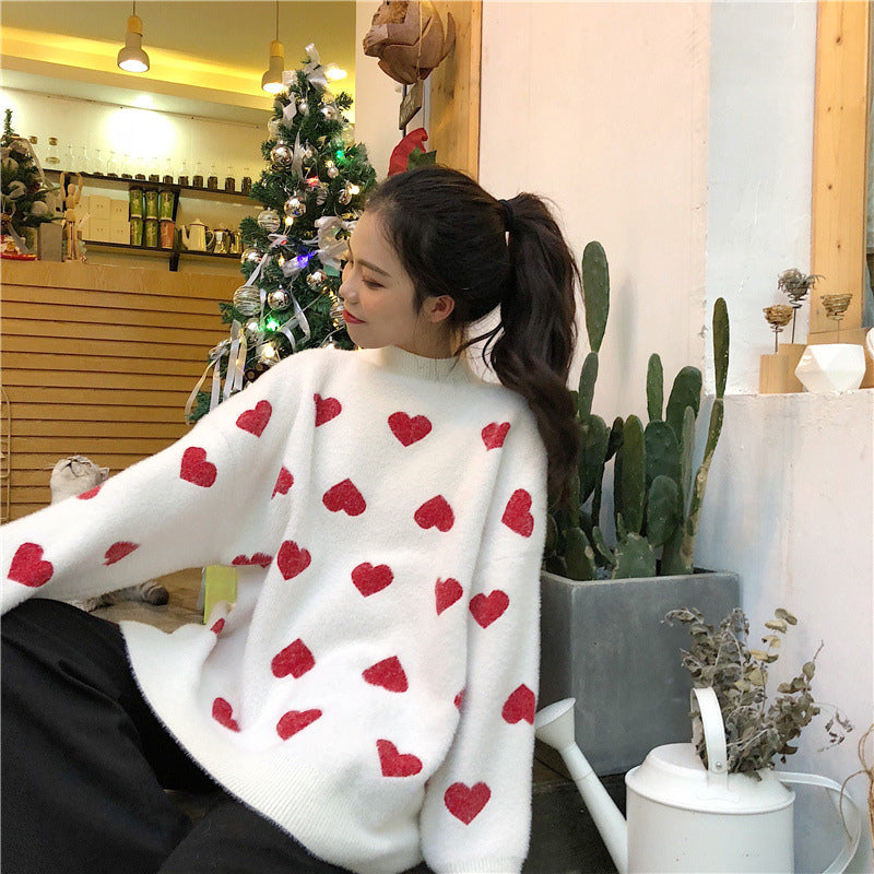 """LOVE"" WHITE SWEATER K091708"