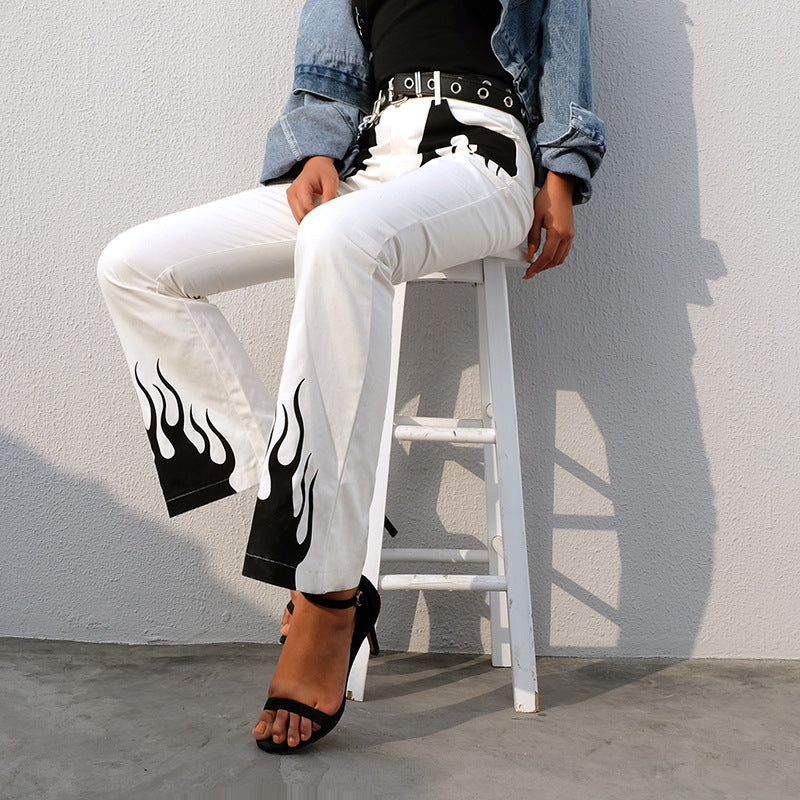 """FLAME"" FLARED TROUSERS Y041004"