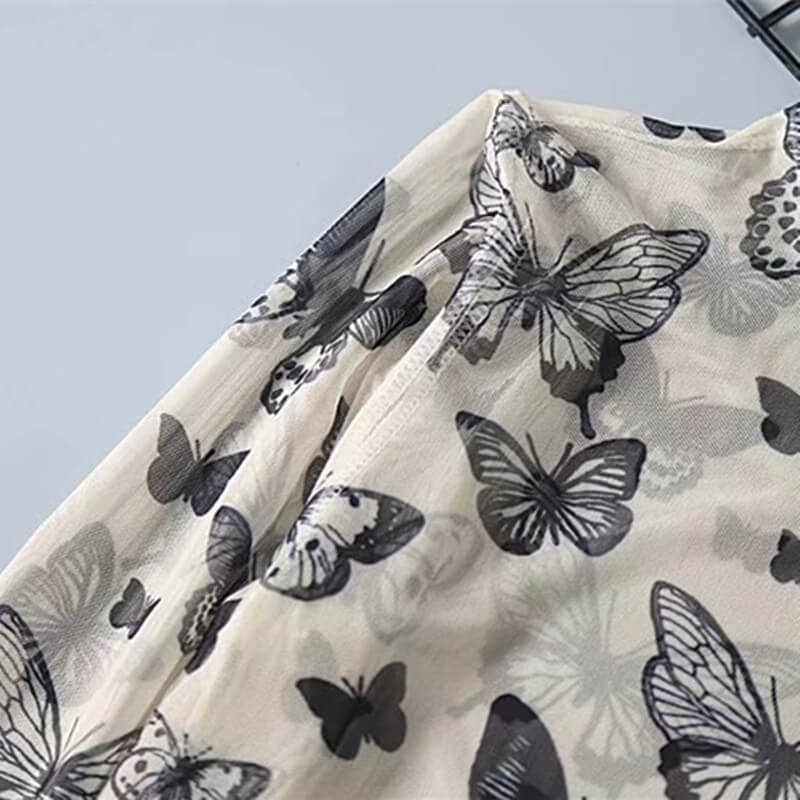 """BUTTERFLY THIN MESH"" LONG SLEEVE K060401"
