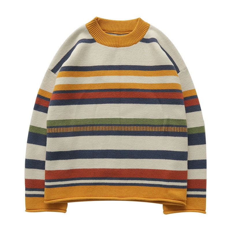 """COLORFUL STRIPE"" SWEATER W010611"
