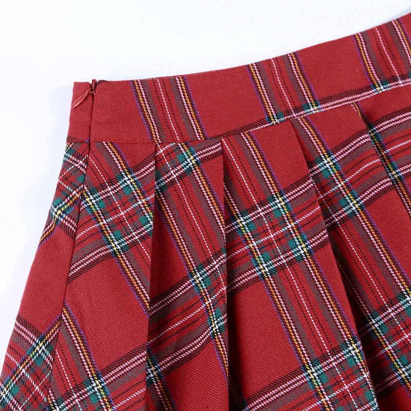 "[@g0ld.d0ll] ""RED PLAID + BLACK"" SKIRT K072510REVIEW"