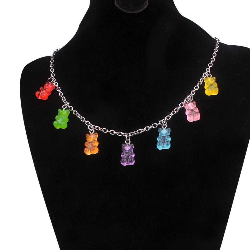 """GUMMY BEAR"" NECKLACE Y032603"