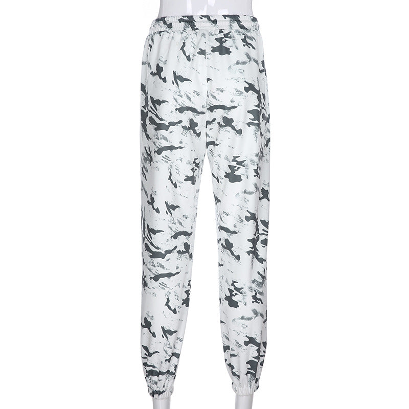 """INK PAINTING PRINTED LOOSE CASUAL"" PANTS K092105"