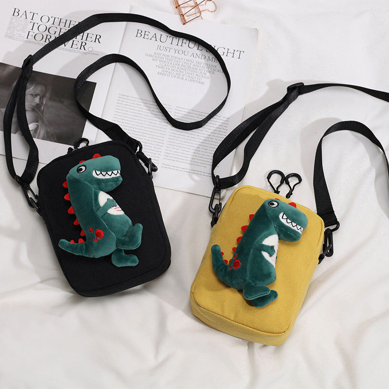 """CANVAS DINOSAUR"" SHOULDER BAG K110505"