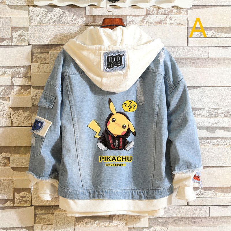 """PIKACHU"" DENIM JACKET K100304"