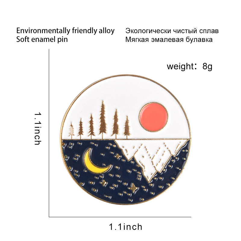 """MOUNTAIN SUN MOON"" PINS Y021202"