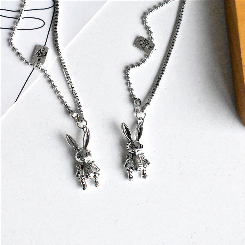 """RETRO CARTOON RABBIT"" NECKLACE  Y020707"