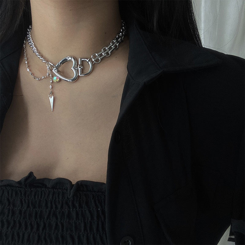 """Love Chain Lock Thick Chain"" Necklace Y040607"