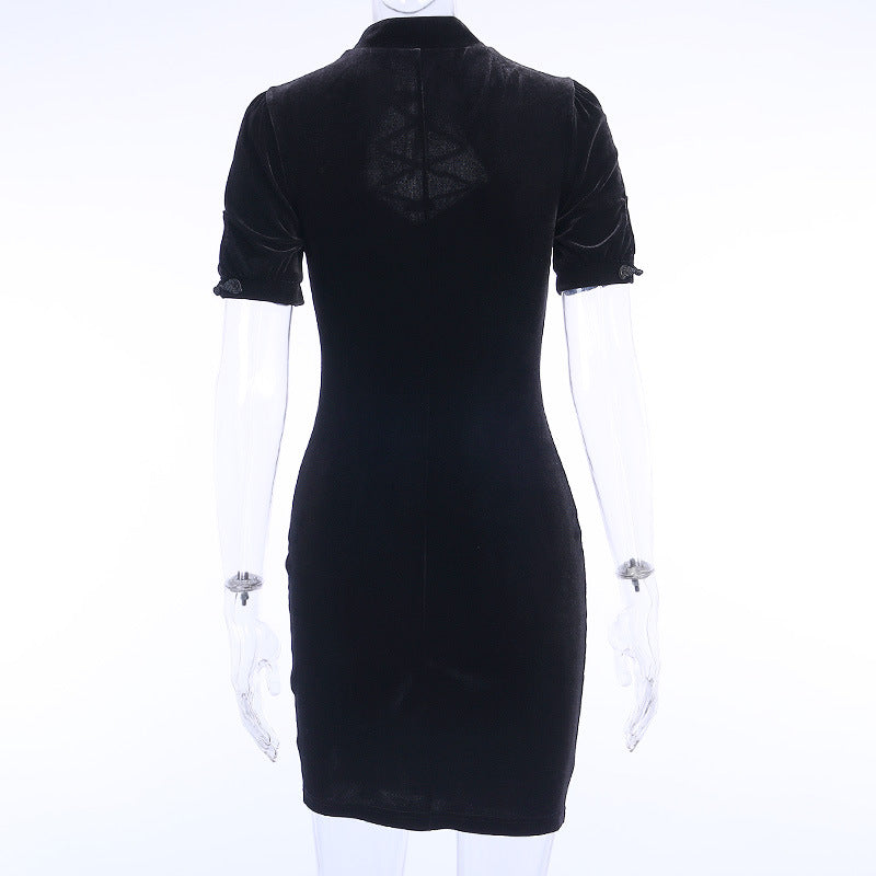 """GOTHIC DARK SEXY"" CHEONGSAM DRESS Y050901"