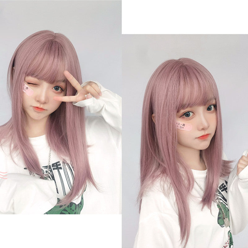 """ROSE PINK CUTE LONG STRAIGHT"" WIG D050403"