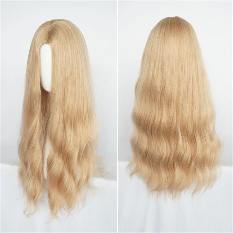 """FASHION GOLDEN FLUFFY CURLY"" WIG Y040320"