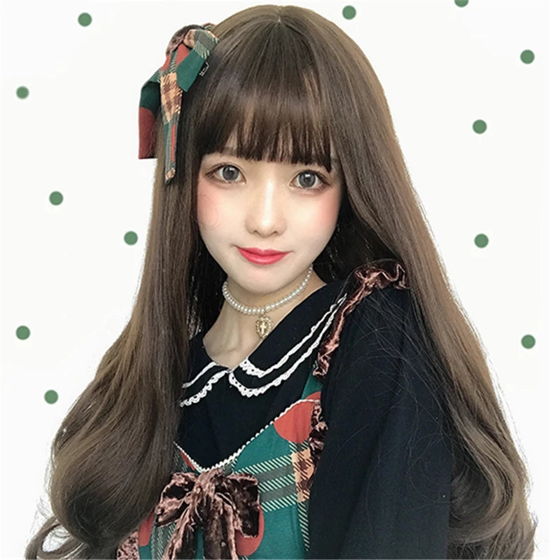 """CHOCOLATE LOLITA CURLY LONG"" WIG Y040904"