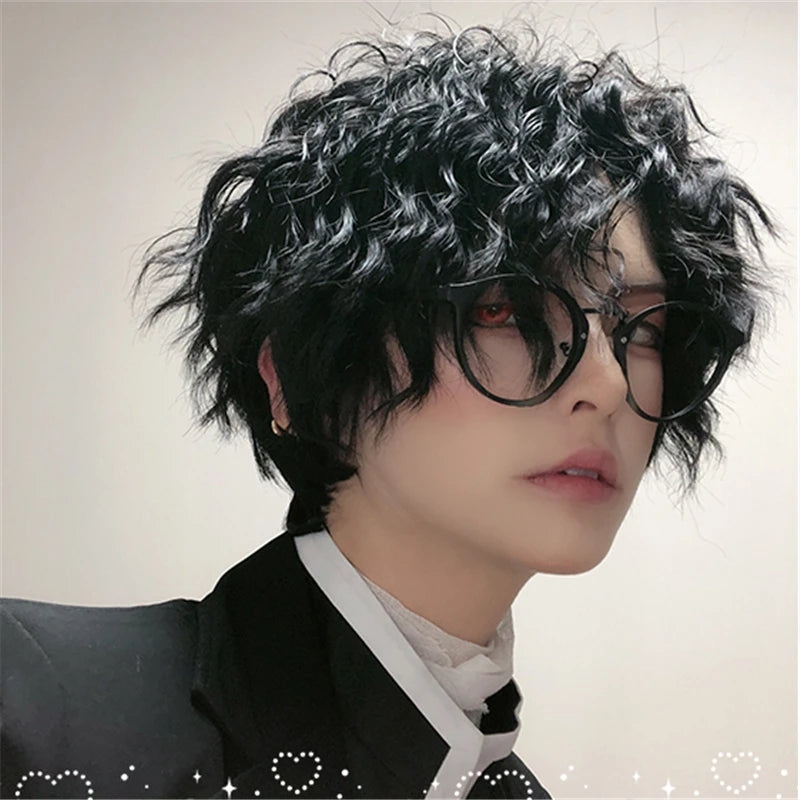"""BLACK LOLITA CURLY SHORT"" WIG D041511"