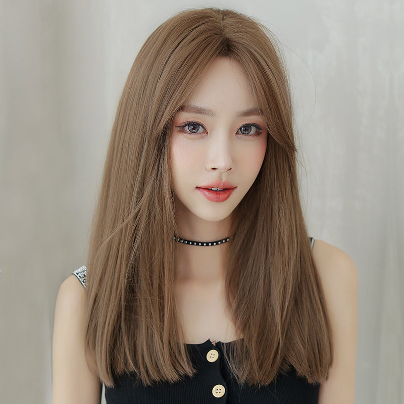 """BROWN LONG STRAIGHT"" WIG H041907"