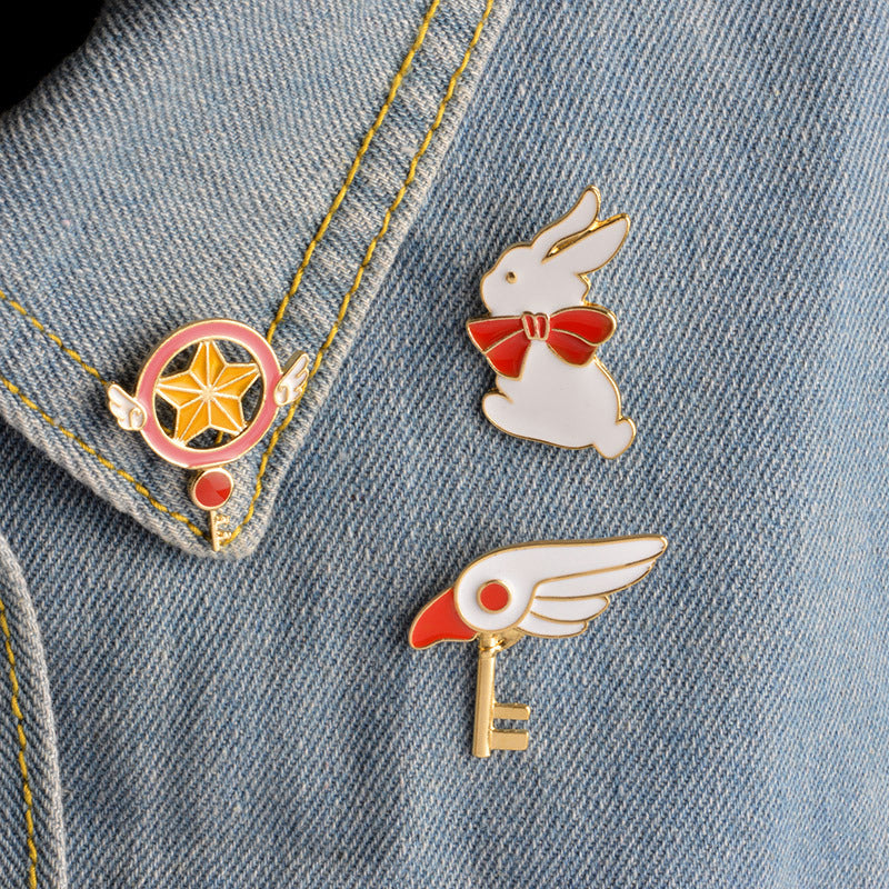 """3 PIECES CARD CAPTOR SAKURA"" PINS Y021212"