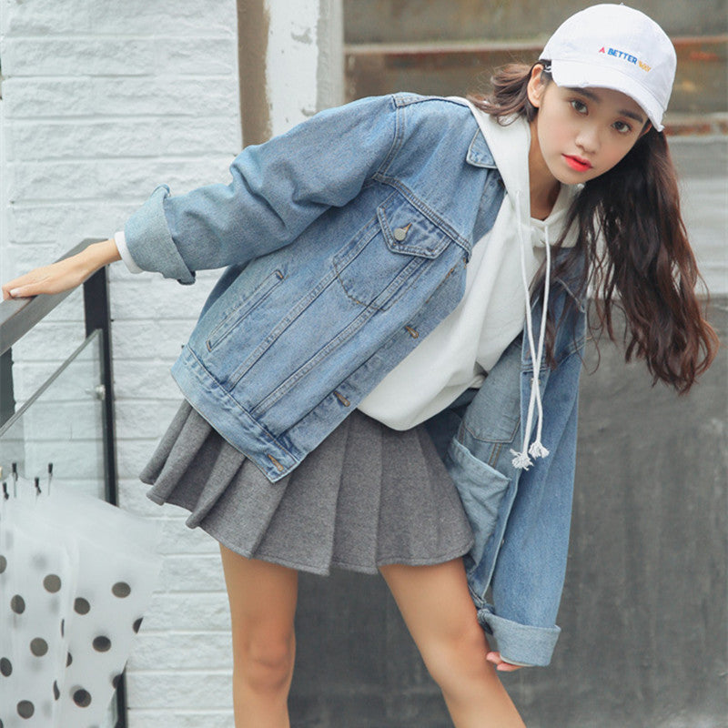 LOOSE CASUAL DENIM JACKET K062202