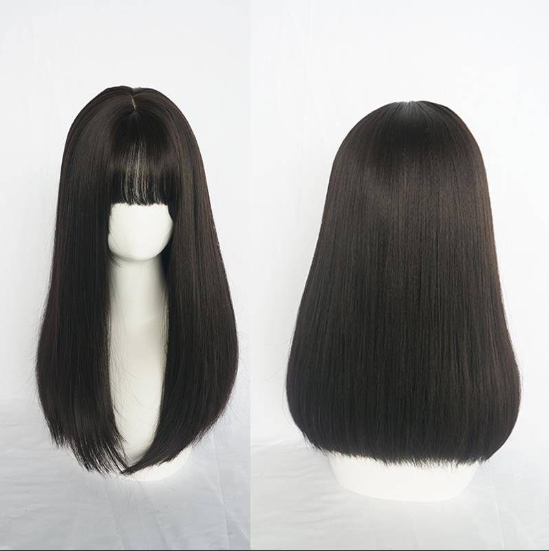 "[@songbirdcosplayss] ""BLACK LONG STRAIGHT"" WIG K070504REVIEW"