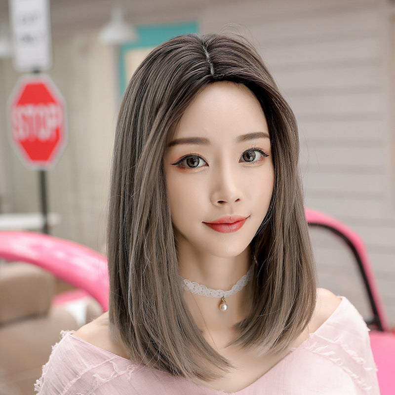 """FOUR COLOR REALISTIC MID-LENGTH STRAIGHT"" WIGS H041911"