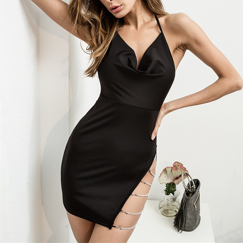 "[@0cmspring] ""SEXY LOW-CUT IRREGULAR"" DRESS K050401REVIEW"