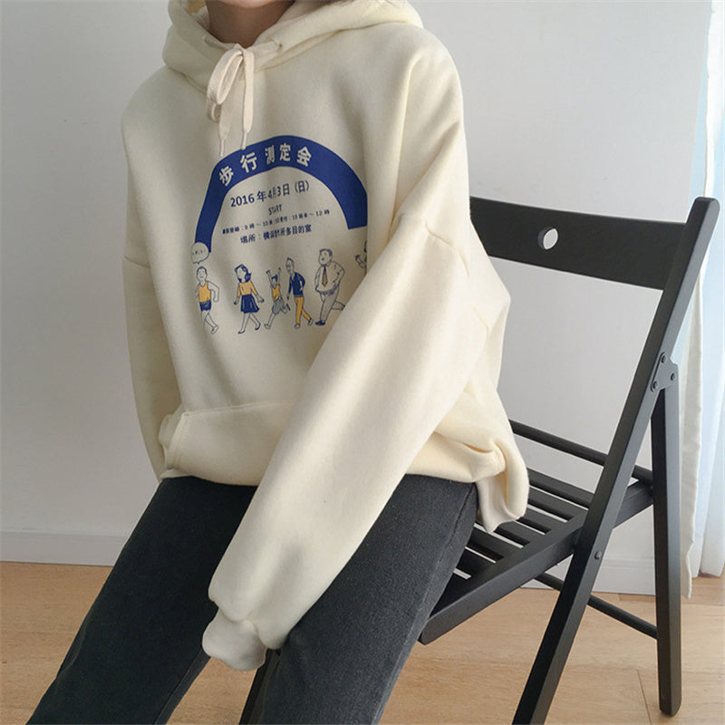 """CARTOON CHARACTER PRINTING"" HOODIES W112010"
