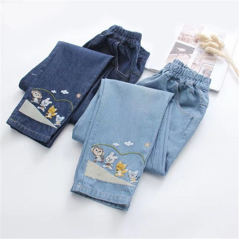 """CUTE KAWAII EMBROIDERED"" JEANS Y031604"