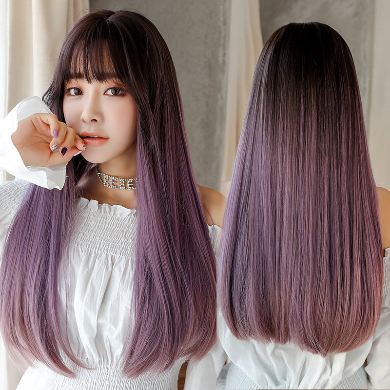 """GRADIENT THREE-COLOR LONG STRAIGHT"" WIG H041901"