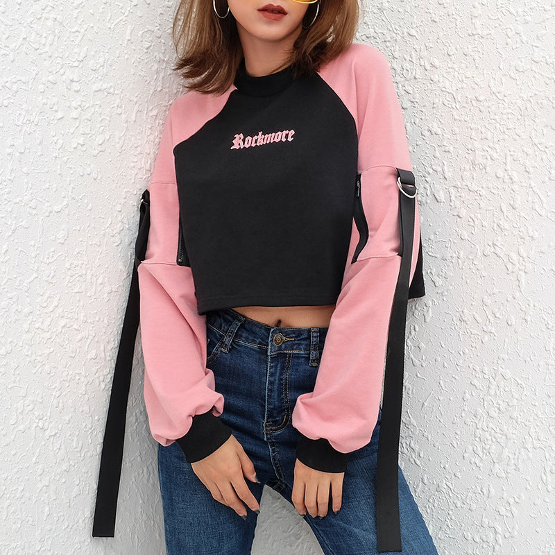 "[@dollish_fox] ""ROCK MORE VINTAGE ROUND NECK PINK"" HOODIE K031102REVIEW"