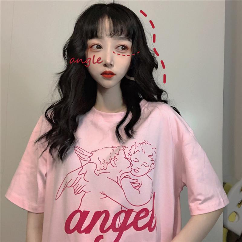 """KISS ANGEL"" SHORT SLEEVE TEE K070807"