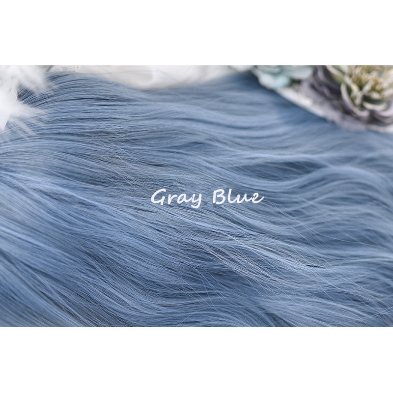"""LOLITA GRAY BLUE"" LONG CURLY WIG K081604"