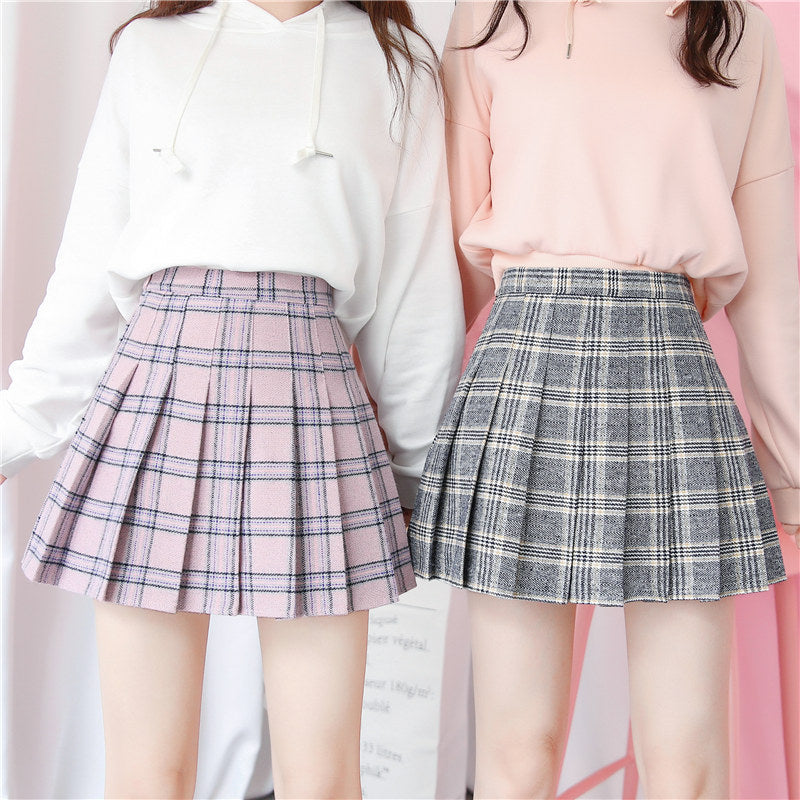 "[@xrose_chanx] ""PLAID""PLEATED SKIRT W010413REVIEW"