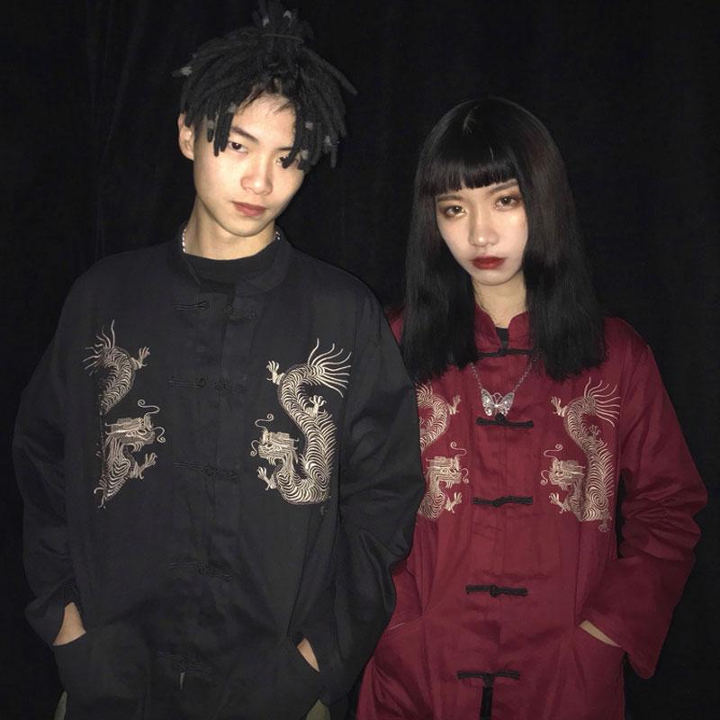 """EMBROIDERED DRAGON"" UNISEX JACKET K022501"
