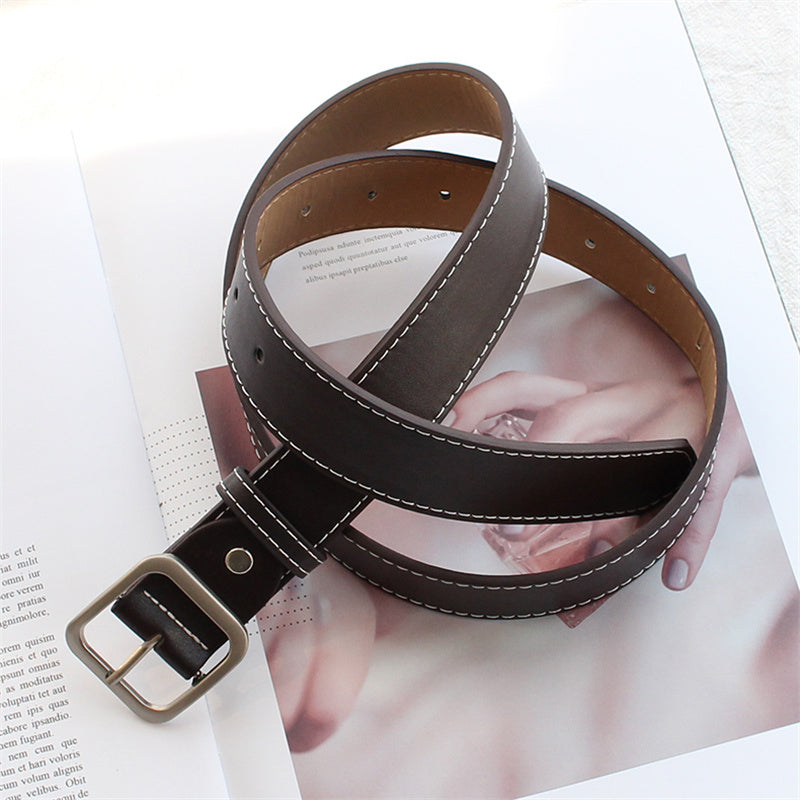 """CHIC SQUARE BUCKLE"" BELT K071504"
