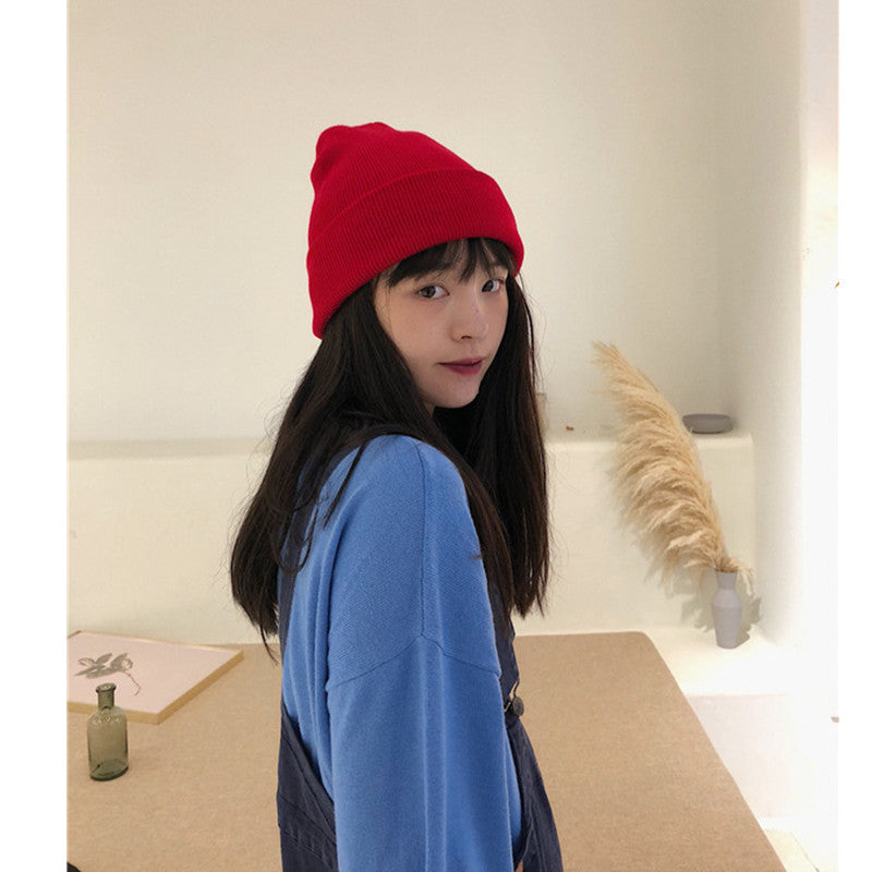 """PURPLE/RED/BLUE HARAJUKU"" KNIT HAT K110712"