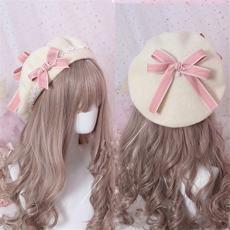 """LOLITA SWEET CUTE BOW"" BERET K110704"