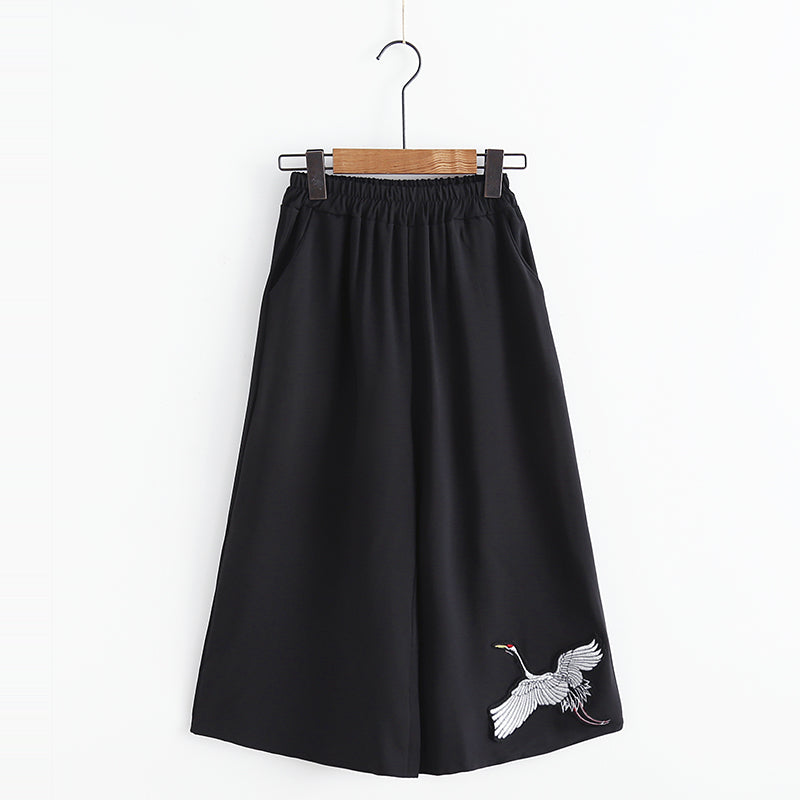 """JFASHION CRANE HIGH WAIST WIDE LEG"" PANTS K102712"