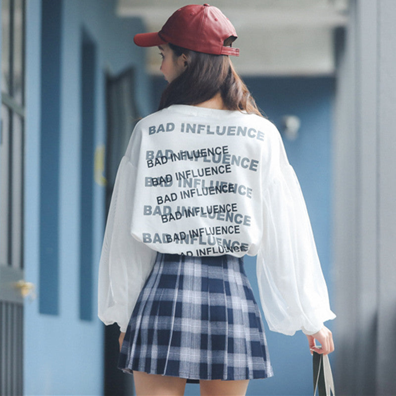 "[@denisastefanescuu] ""NOTHING HAPPEN HERE"" LONG SLEEVES +SKIRT K102206REVIEW"