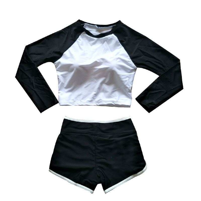 """JAPANESE LONG SLEEVE FITNESS"" SWIMSUIT K042906"