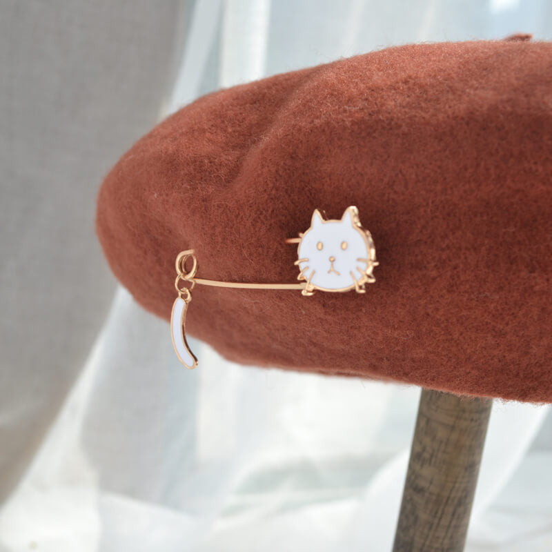 """CUTE METAL CAT"" BERET K061418"