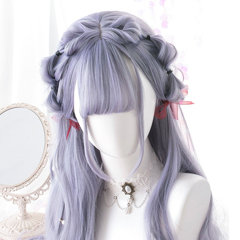 """GRAY-VIOLET LONG CURLY"" WIG K102312"