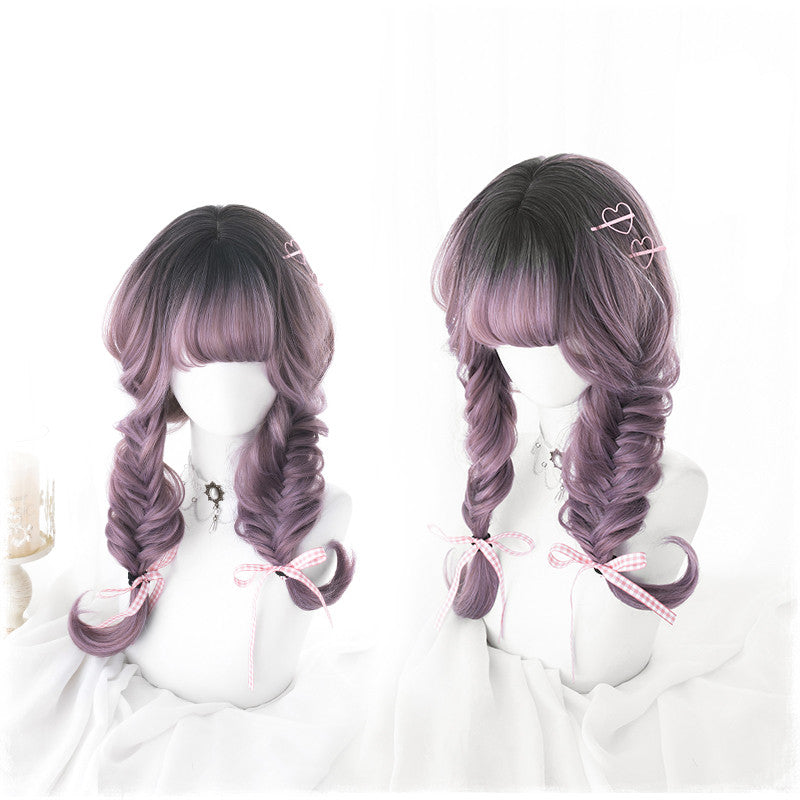 """BLACK GRADIENT PURPLE LOLITA"" WIG Y022906"