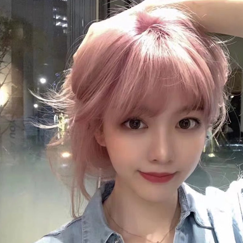 """ SHORT PINK CURLY HAIR ""WIG H082106"