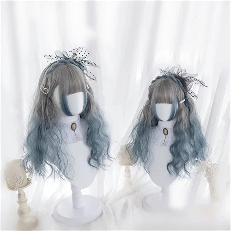 """LOLITA GRADIENT GREY BLUE"" WIG K122812"
