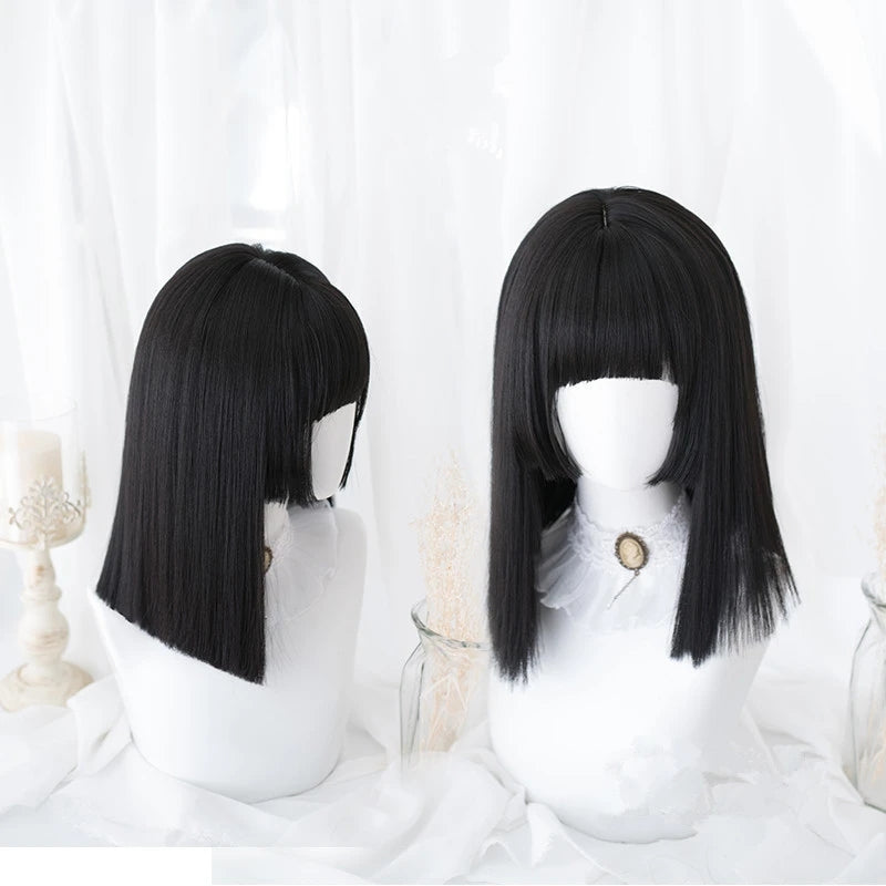"""BLACK LONG STRAIGHT"" WIG D041605"