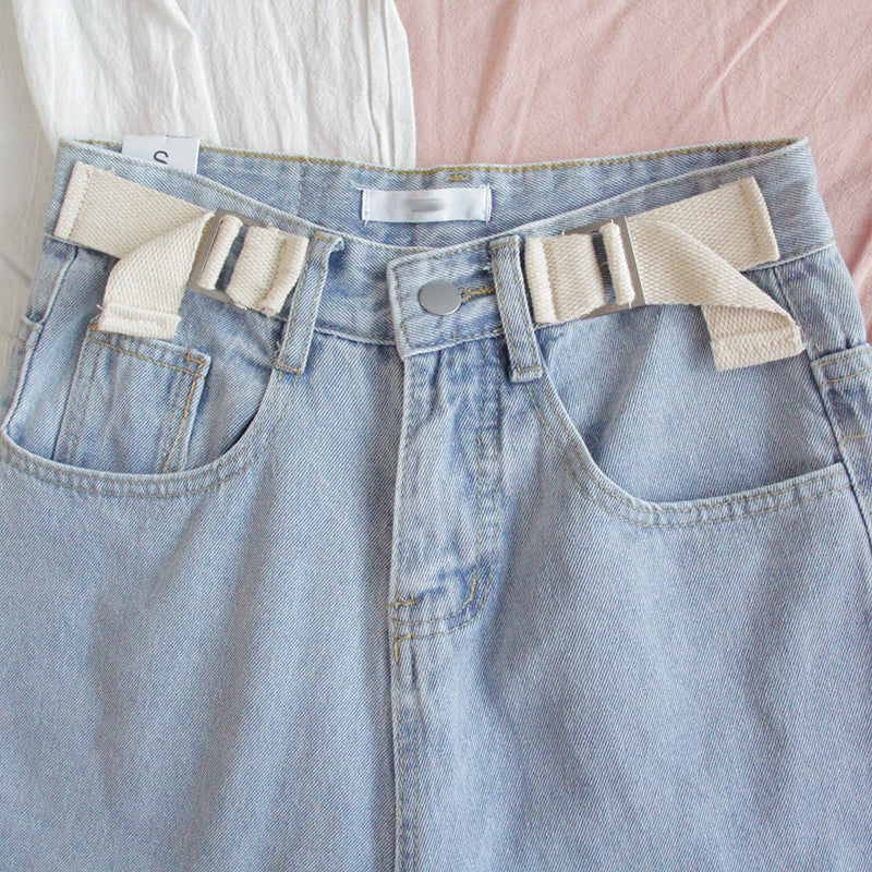 """HIGH-WAISTED LOOSE STRAIGHT"" JEANS Y041108"