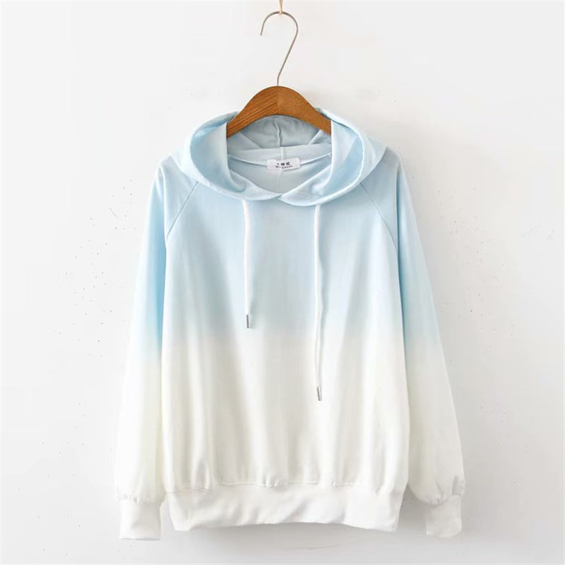 """5 COLORS GRADIENT HOODED THIN"" HOODIES K102006"