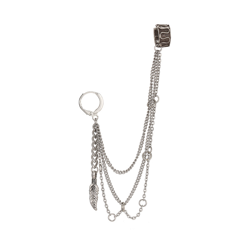 """BTS-V MULTI-LAYER CHAIN"" EARRINGS Y021605"