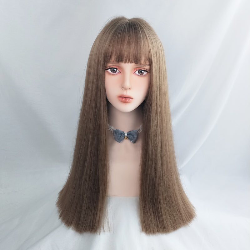 """LIGHT BROWN LONG STRAIGHT"" WIG Y040303"