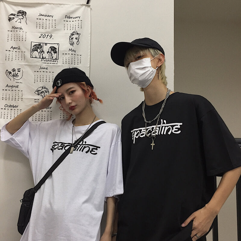 """RETRO REFLECTIVE FLAME"" COUPLE TEE K053003"