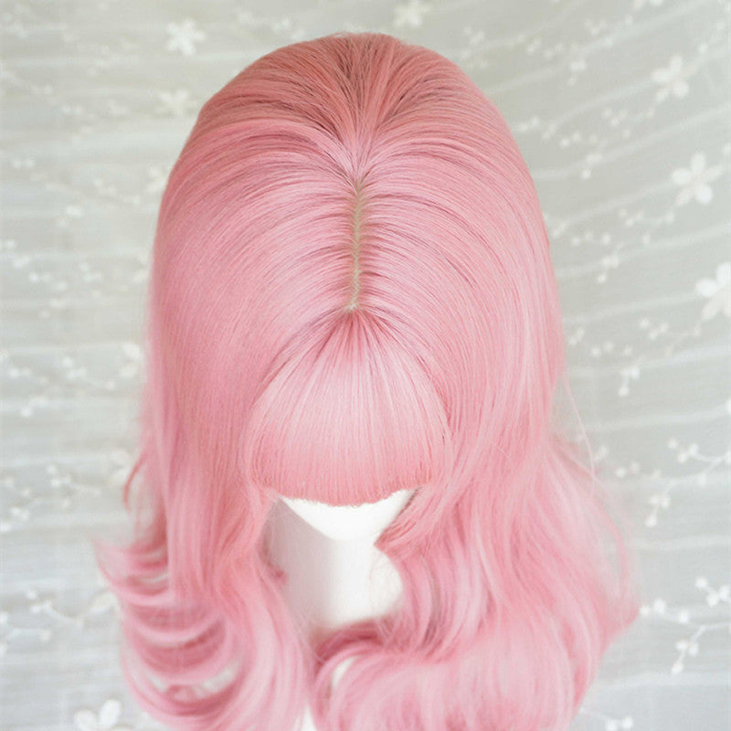 """AIR BANGS PINK"" LONG ROLL WIG K082214"